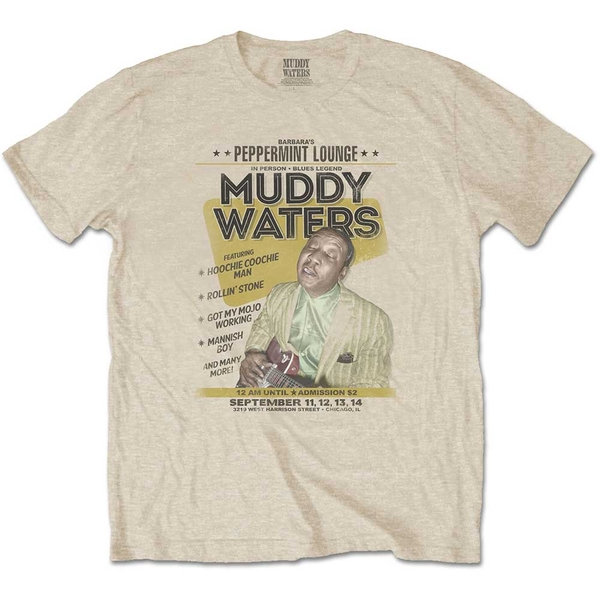 Muddy Waters - Peppermint Lounge Men's Small T-Shirt - Sand