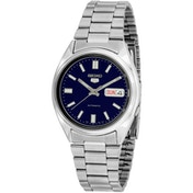 Seiko SNXS77K  5 Mens Automatic Watch Silver with Blue Face