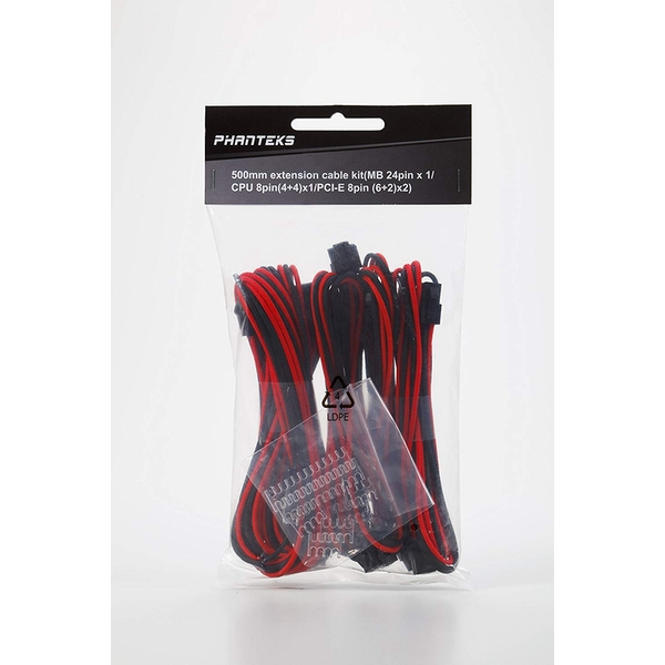 Phanteks Extension Cable Combo Kit - Black/Red