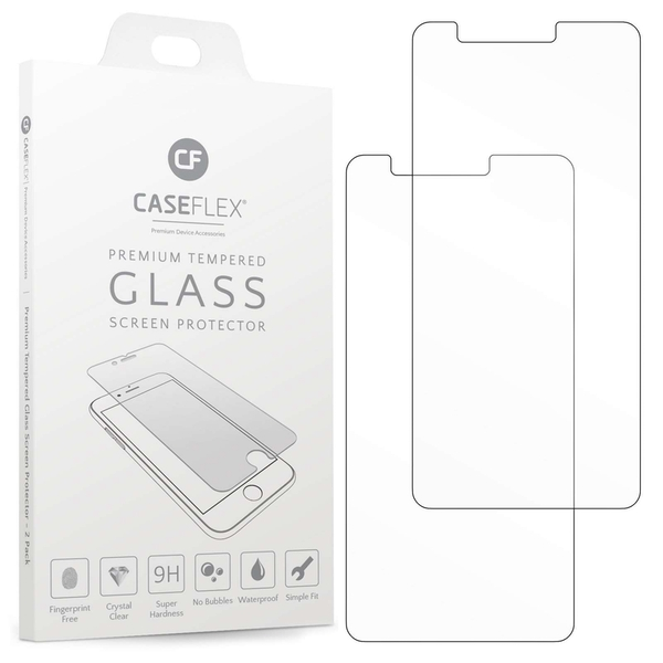CASEFLEX LG K8 (2018) TEMPERED GLASS (TWIN PACK) - CLEAR