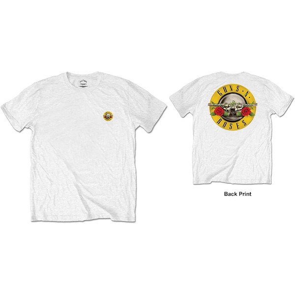 Guns N' Roses - Classic Logo Men's Large T-Shirt - White