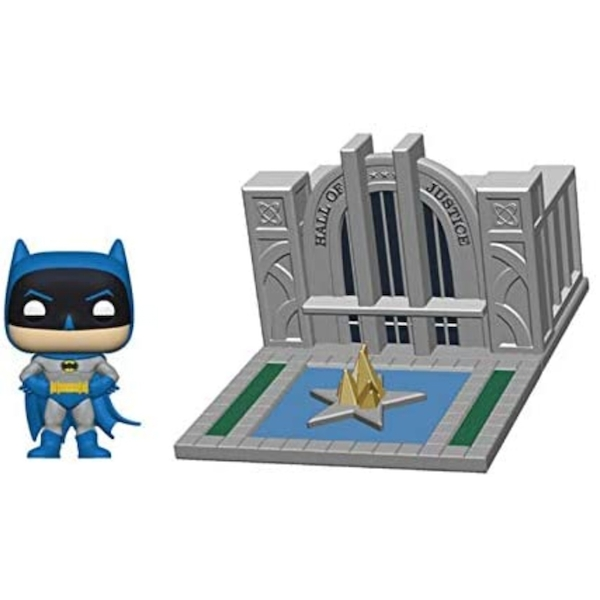 Hall of Justice with Batman Funko Pop Town Figure #09