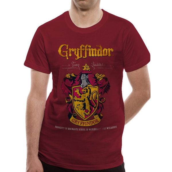 Harry Potter - Gryffindor Quidditch XX-Large Unisex T-shirt - Red