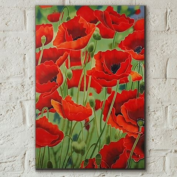 Tile 8x12 Poppy Fields By K Andy Wall Art