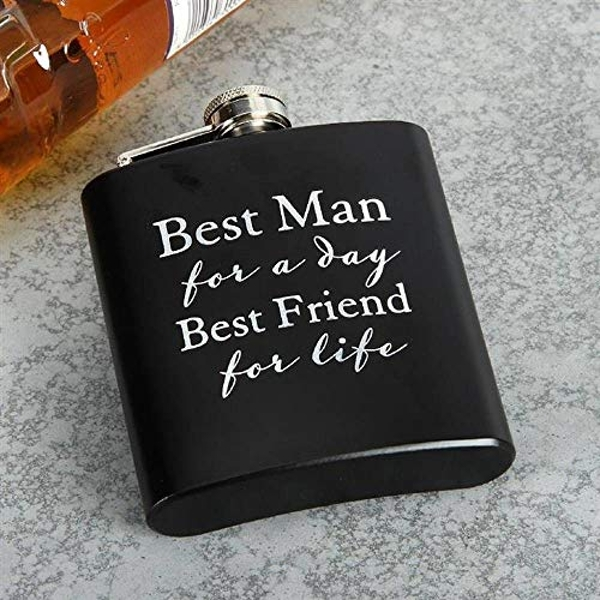 AMORE BY JULIANA? 6oz Hip Flask - Best Man For A Day...