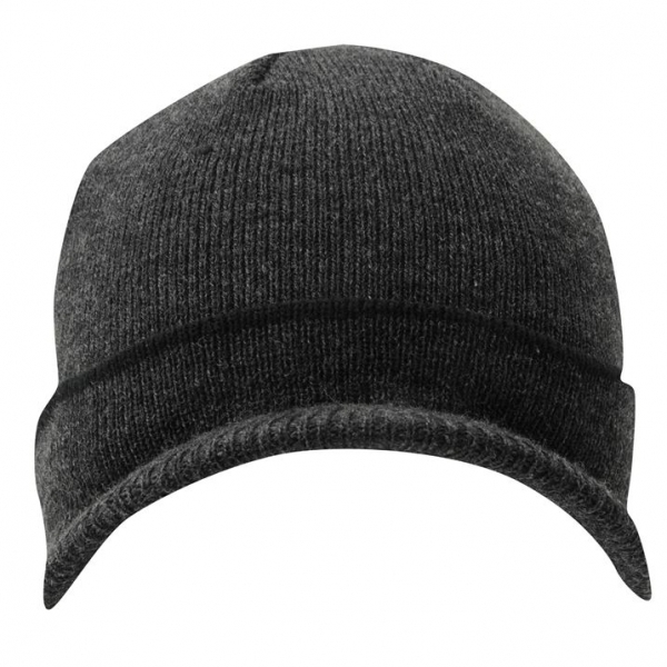 2cd09b6ce60 ... undefeated x cac59 29036 Lonsdale Peak Beanie Hat Grey - Image 2 ...