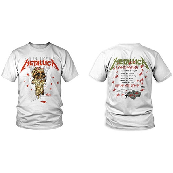 Metallica - One Landmine Men's XX-Large T-Shirt - White