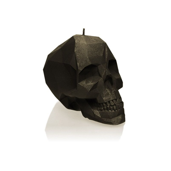 Black Large Low Poly Skull