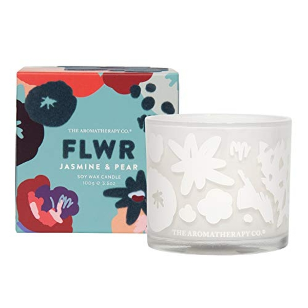The Aromatherapy Co 100g FLWR Candle - Jasmine & Pear