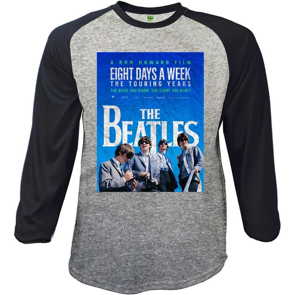 The Beatles - 8 Days a Week Movie Poster Unisex Large T-Shirt - Grey,Black