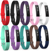 Yousave Fitbit Alta / Alta HR Strap 10-Pack Large - Multi-Colour