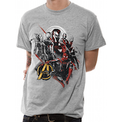 The Avengers Infinity War - Good Mix Men's XX-Large T-Shirt - Grey