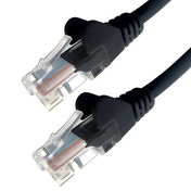 Connekt Gear 2M Black RJ45 UTP CAT 5e Stranded Flush Moulded Snagless Network Cable 24AWG