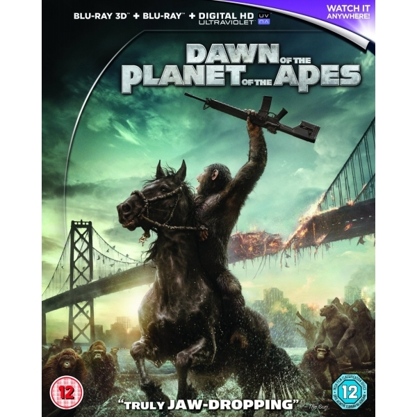 Dawn of the Planet of the Apes Blu-ray 3D + Blu-ray