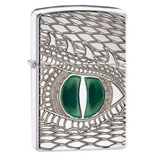 Zippo Fire Breathing Windproof Lighter High Polish Chrome