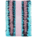 Pink and Blue Reversible Sequin Notebook