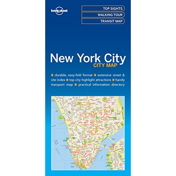 Lonely Planet New York City Map  Sheet map, folded 2016