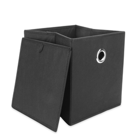 Set of 6 Collapsible Storage Boxes | M&W Black