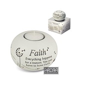Said with Sentiment Tea Light Holders Faith