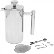 Ex-Display French Press Cafetiere | Steel Coffee Maker | FREE Filters & Spoons | M&W 1500ml Used - Like New
