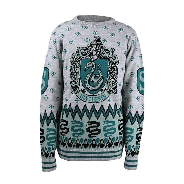 Harry Potter - Slytherin Crest Unisex Christmas Jumper Large