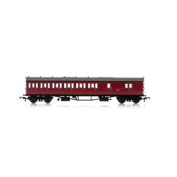 Hornby BR Collett 57' Bow Ended D98 W4949W Six Compartment Brake Third (Left Hand) Era 4 Model Train