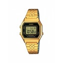 Casio LA680WEGA-1ER Ladies Black Dial Gold Plated Digital Watch