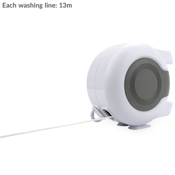 Double Retractable Washing Line 30m | M&W - Image 2