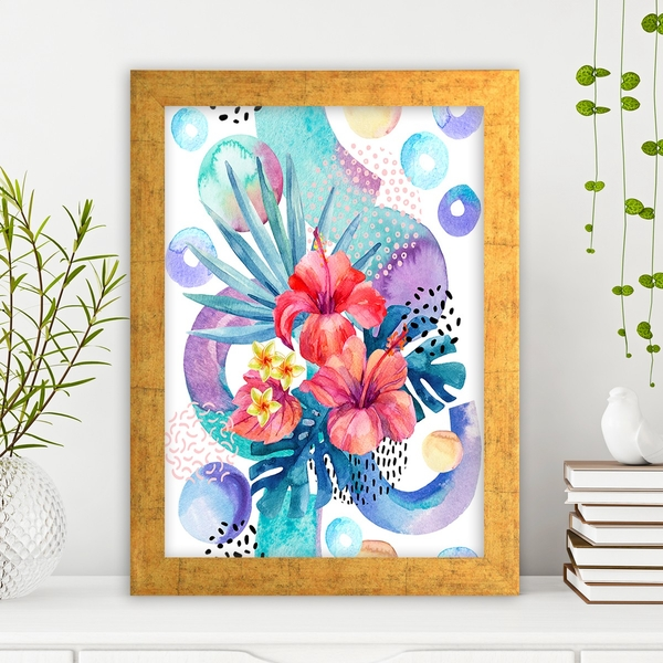 AC1026778759 Multicolor Decorative Framed MDF Painting