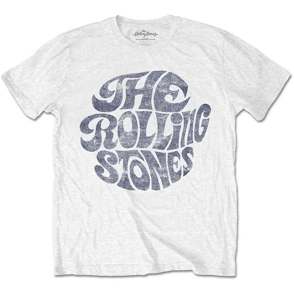 Image of The Rolling Stones - Vintage 70s Logo Unisex Small T-Shirt - White