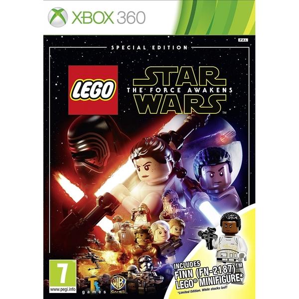 Lego Star Wars The Force Awakens Special Edition Xbox 360 Game (Finn Figure)