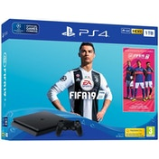 PlayStation 4 (1TB) Black Console with FIFA 19 Ultimate Team Icons and Rare Player Pack