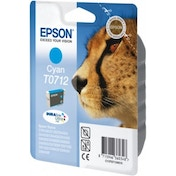 Epson C13T07124012 (T0712) Ink cartridge cyan, 345 pages, 6ml