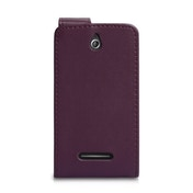 YouSave Accessories Sony Xperia E Leather-Effect Flip Case - Purple