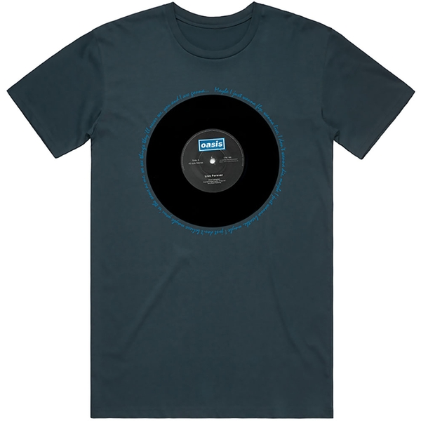Oasis - Live Forever Single Unisex Small T-Shirt - Blue