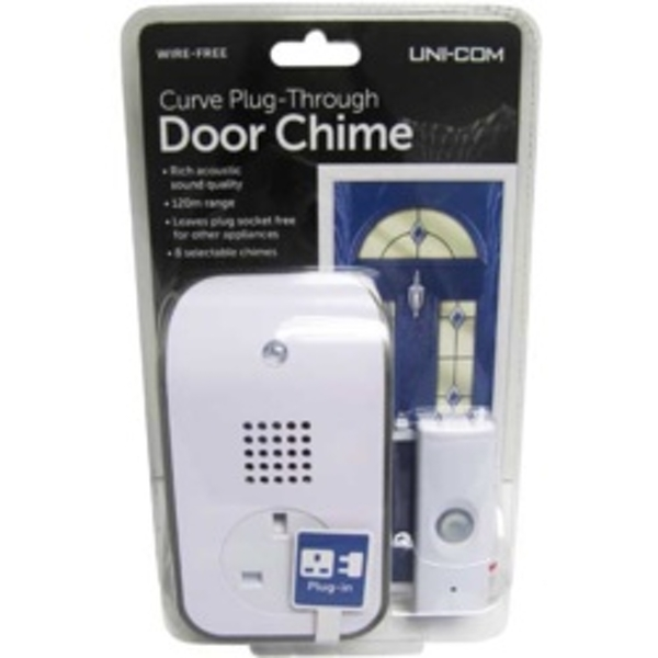 Uni-Com Curve Plug Through Door Chime