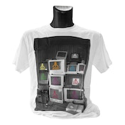 Atari - Computer Screens T-Shirt Male Small (White)