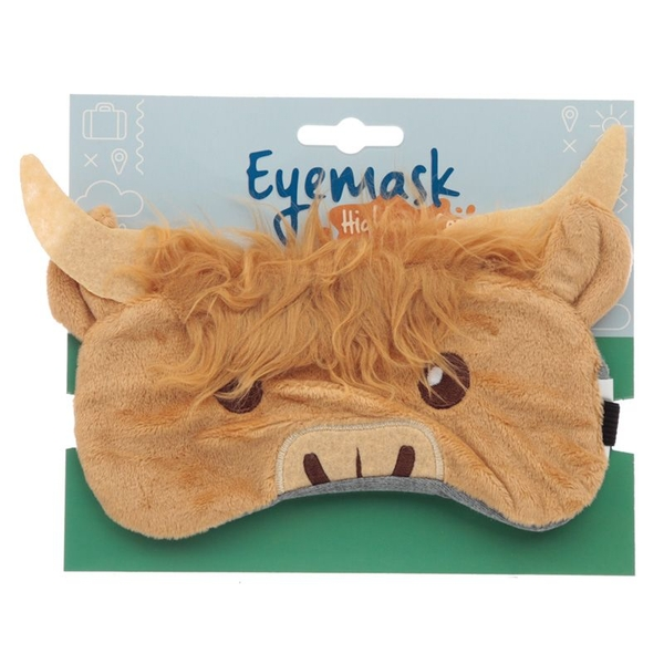 Plush Highland Coo Eye Mask