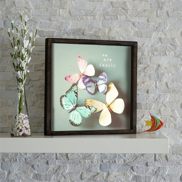 KZM539 Multicolor Decorative Framed MDF Painting