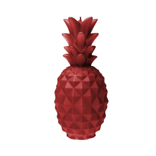 Red Large Pineapple Candle