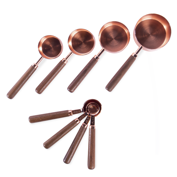 Copper Plated Measuring Spoons & Cups - Set of 8 | M&W