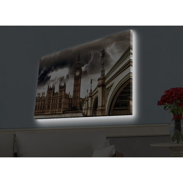 4570HDACT-047 Multicolor Decorative Led Lighted Canvas Painting