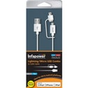 INFAPOWER Lightning and Micro USB Combo to USB Cable