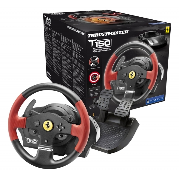 Thrustmaster T150 Ferrari Force Feedback Wheel PS4 PS3 PC