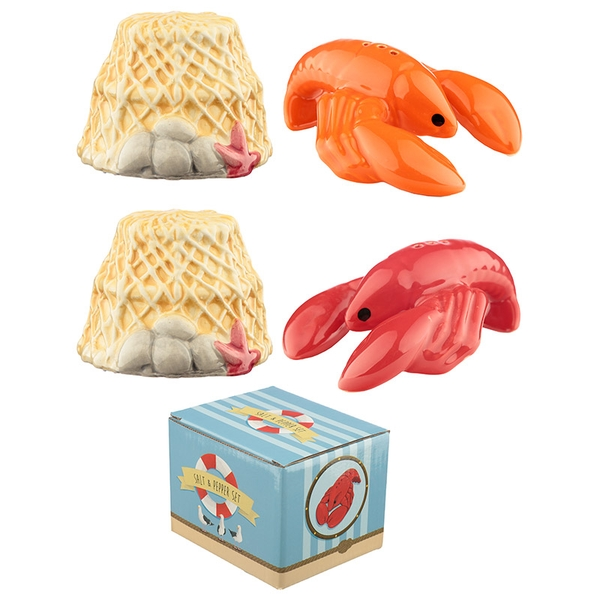 Seaside Lobster Salt and Pepper Set