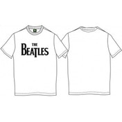 The Beatles - Drop T Logo Men's Small T-Shirt - White