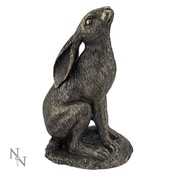 Moon Gazing Hare Bronze Ornament