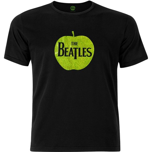 The Beatles - Apple Logo Unisex X-Large T-Shirt - Black