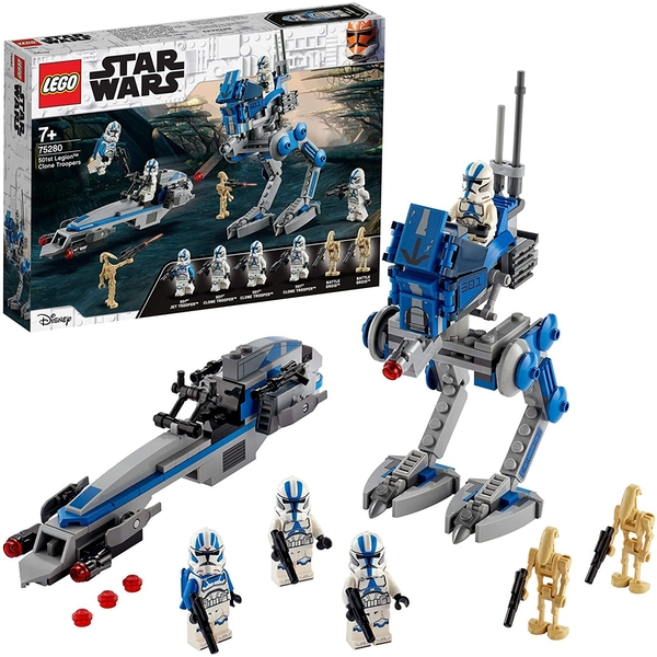 LEGO Star Wars Legion Clone Troopers Set with Battle Droids and at RT Walker