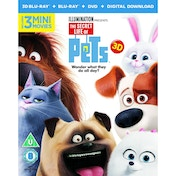 The Secret Life Of Pets  Blu-ray 3D + Blu-ray + DVD + Digital Download